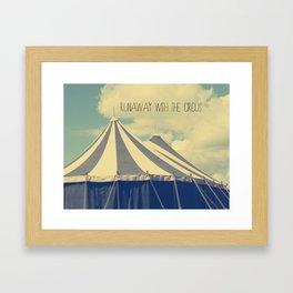 Circus tent Framed Art Print