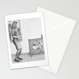 Girl with TV Stationery Cards