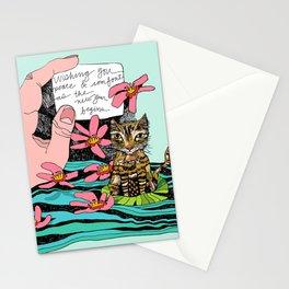 MOEY ON A LILYPAD Stationery Cards
