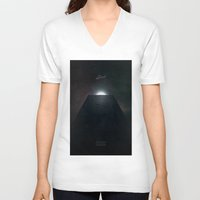 2001 a space odyssey V-neck T-shirts featuring 2001 A Space Odyssey alternative movie poster by LionDsgn