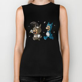 Super Totoro Bros. Alternative Biker Tank