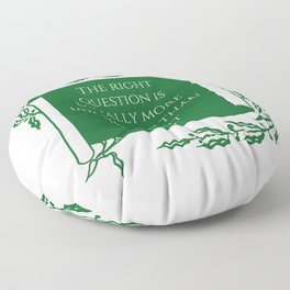 The rights questions. A quote by Plato Floor Pillow