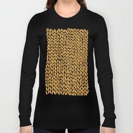 Hand Knit Orange Long Sleeve T-shirt