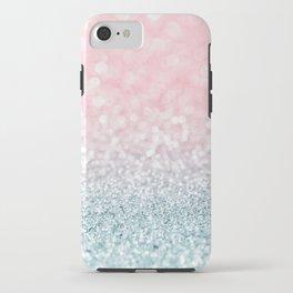 Aqua and Pink Glitter Gradient iPhone Case