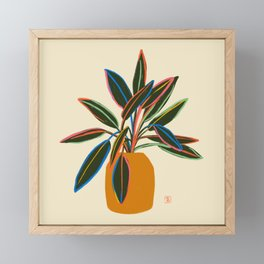PLANT WITH COLOURFUL LEAVES  Framed Mini Art Print