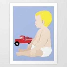 BOY BABY BLUE Art Print