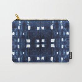Shibori City Blue Carry-All Pouch