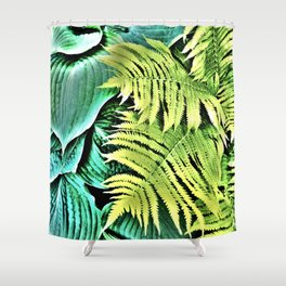 468 - Abstract Leaf Design Shower Curtain