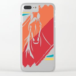 Horse horses gift pony mare stallion riding Clear iPhone Case
