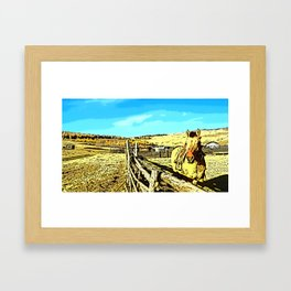 Mongolia Horse Treks (at Mountain Rubia) Framed Art Print