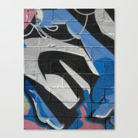 graffiti Canvas Prints featuring Graffiti by Electric Avenue