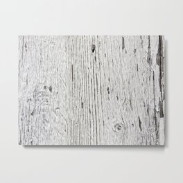Painted wood Metal Print