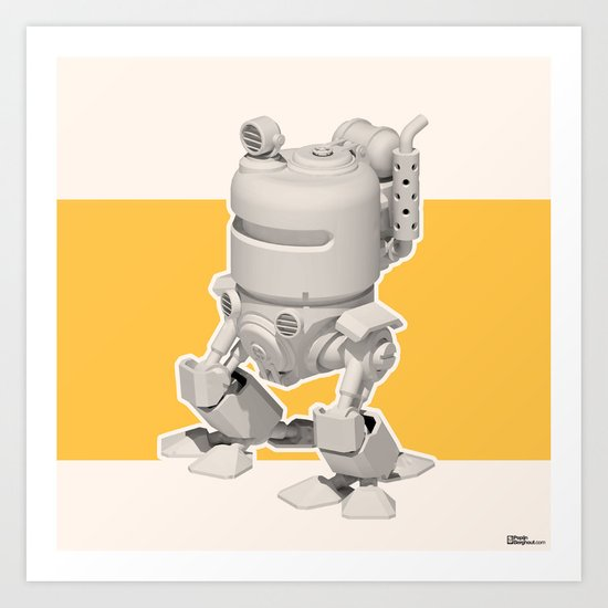 Exporers II - Robot Art Print
