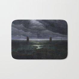 Caspar David Friedrich - Sea Shore in Moonlight - Küste bei Mondschein Bath Mat