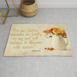 Do not sadden Rug