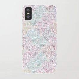 Patterns Of My Heart iPhone Case