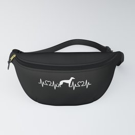 Heartbeat Frequency Pulse EKG Greyhound Motif Fanny Pack