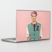 zayn Laptop & iPad Skins featuring Zayn varsity by Coconut Wishes