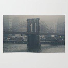 Brooklyn Bridge in the Mist Rug