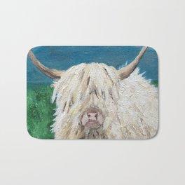 A Sweet Shaggy Highland Coo Bath Mat