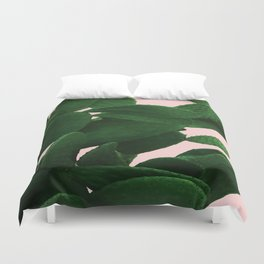 Cactus On Pink Duvet Cover