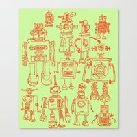robots Canvas Prints featuring Robots! by Paul McCreery