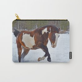 Romping in the snow Carry-All Pouch