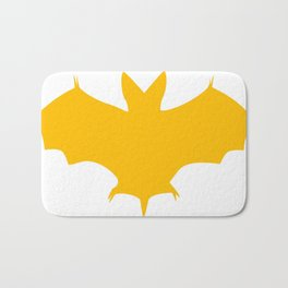 Orange-Yellow Silhouette Of a Bat  Bath Mat