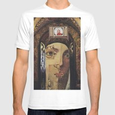 Collage No.53 White MEDIUM Mens Fitted Tee