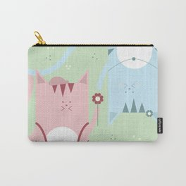 Traveling Tabbies: Flower Power Carry-All Pouch