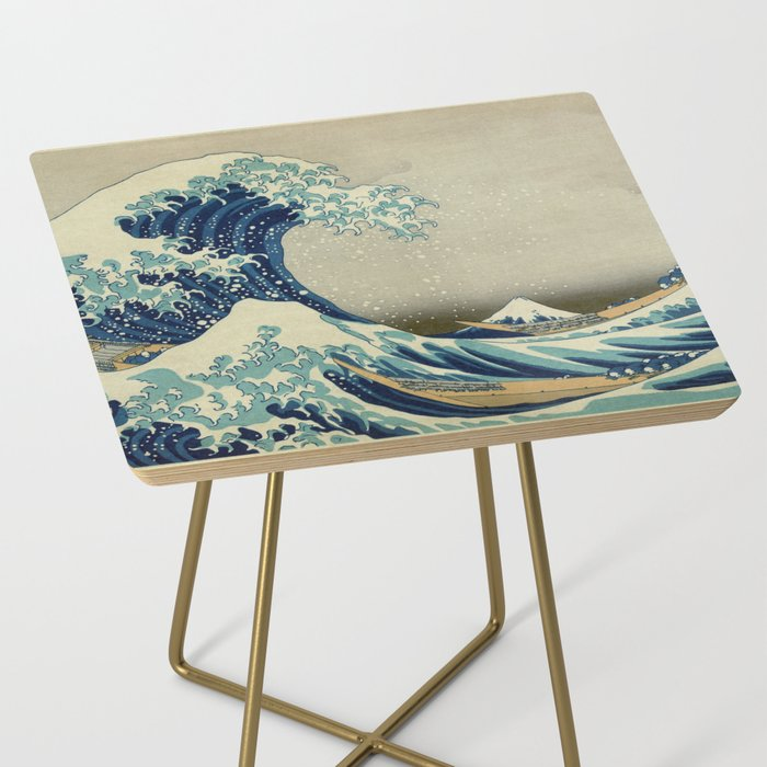 The Great Wave off Kanagawa Side Table