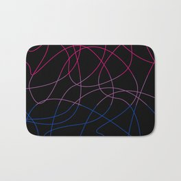 Abstract Threads – Bisexual Pride Flag Bath Mat