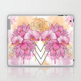 Flower Explosion - Pink/Orange Laptop & iPad Skin
