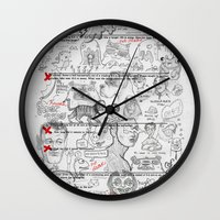 study Wall Clocks featuring Forgot To Study by jublin