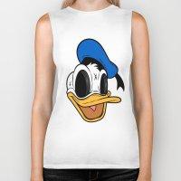donald duck Biker Tanks featuring Donald Duck the Creep by Daniel Hannih
