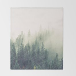 My Peacful Misty Forest II Throw Blanket