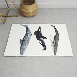 Orca, humpback and grey whales Rug