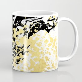 Sukie - abstract gold black and white foil glitter shiny sparkle hipster painting free spirit cosmic Coffee Mug