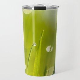 Wonderful Morning Dew - Spring Green - Beatiful Bokeh Travel Mug
