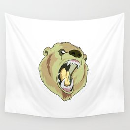 Grizzly-bear badge Wall Tapestry