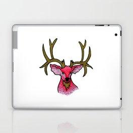 Oh Deer: Pink and Gold Deer Illustration Laptop & iPad Skin