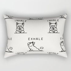 Inhale Exhale Frenchie Rectangular Pillow