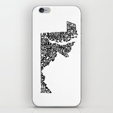 Typographic Maryland iPhone & iPod Skin