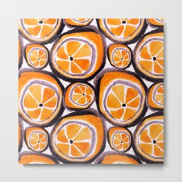 Bunch O' Orange Metal Print