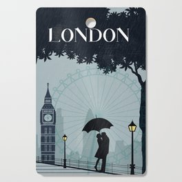 London vintage poster travel Cutting Board