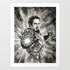 Iron-Man Art Print