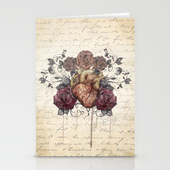 Flowers from my heart Stationery Cards