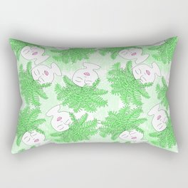 Fern-tastic Girls in Neon Green Rectangular Pillow
