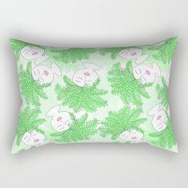 Fern-tastic Girls in Neon Green Rectangular Pillow