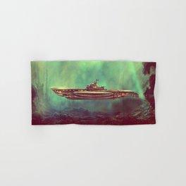 Golden Pirate Submarine Hand & Bath Towel